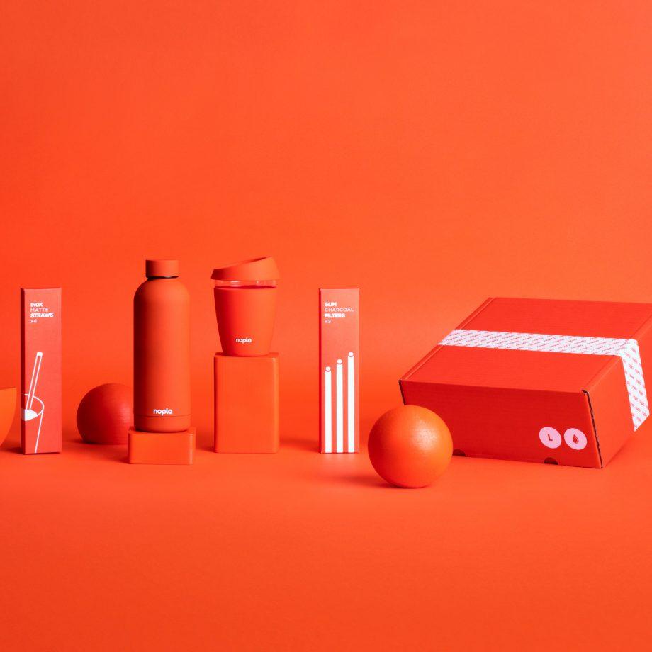 nopla Large Orange Hydrate Set