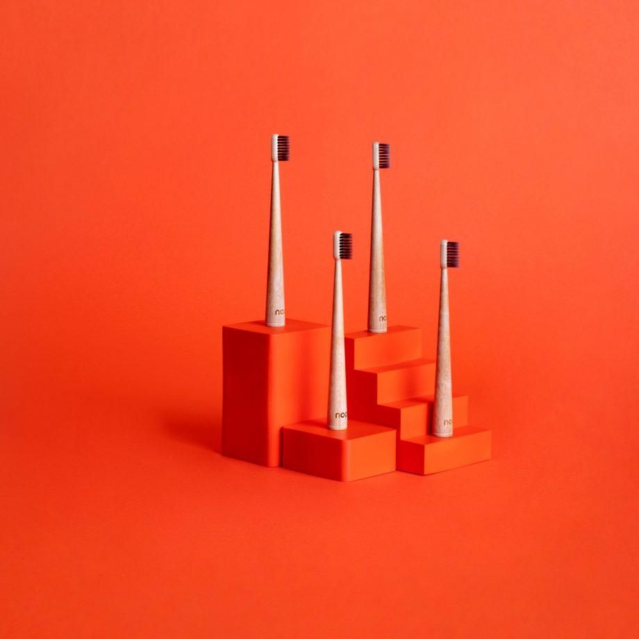 nopla Orange Toothbrush Pack