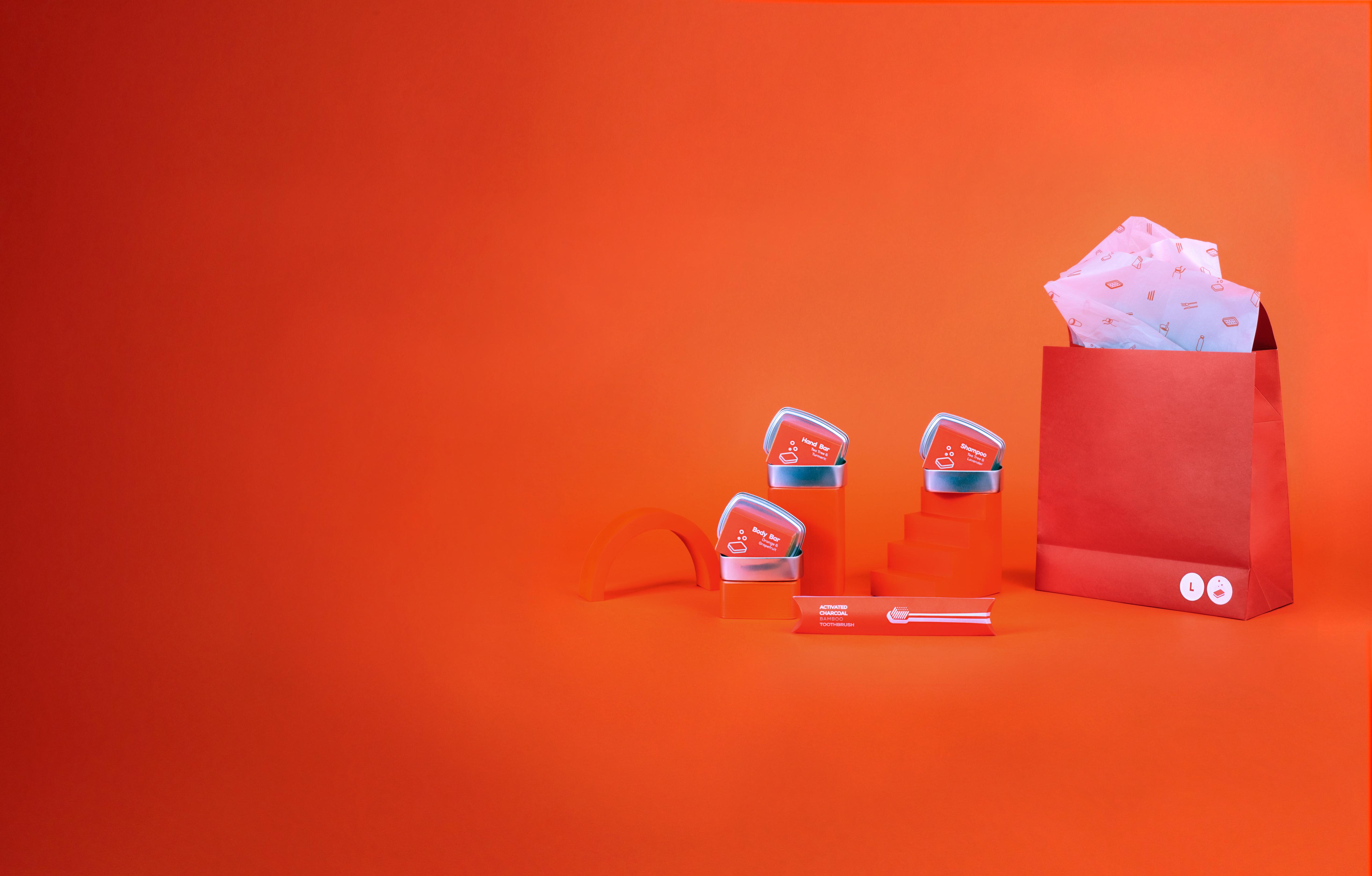 nopla Large Orange Cleanse Set