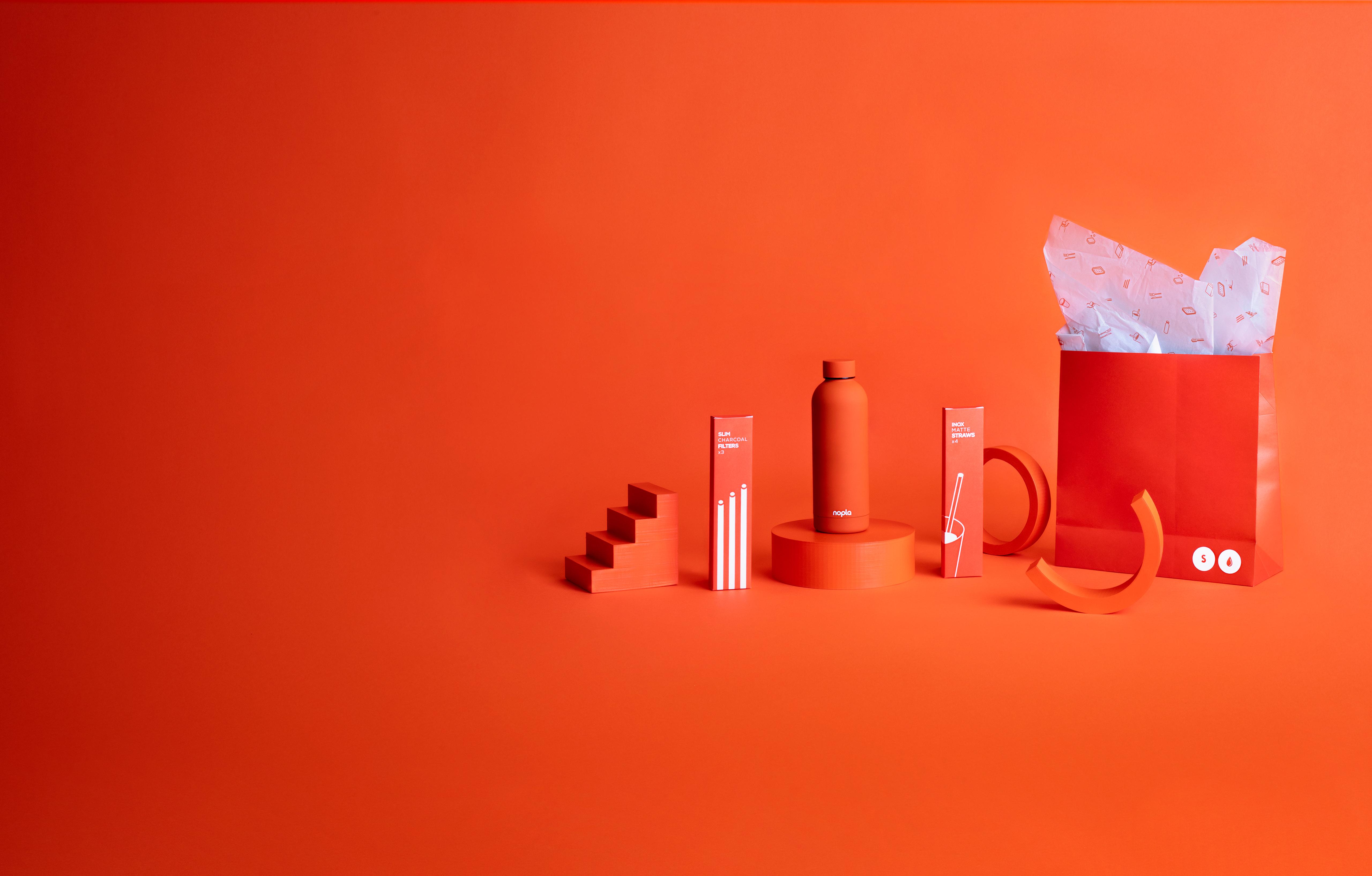 nopla Small Orange Hydrate Set
