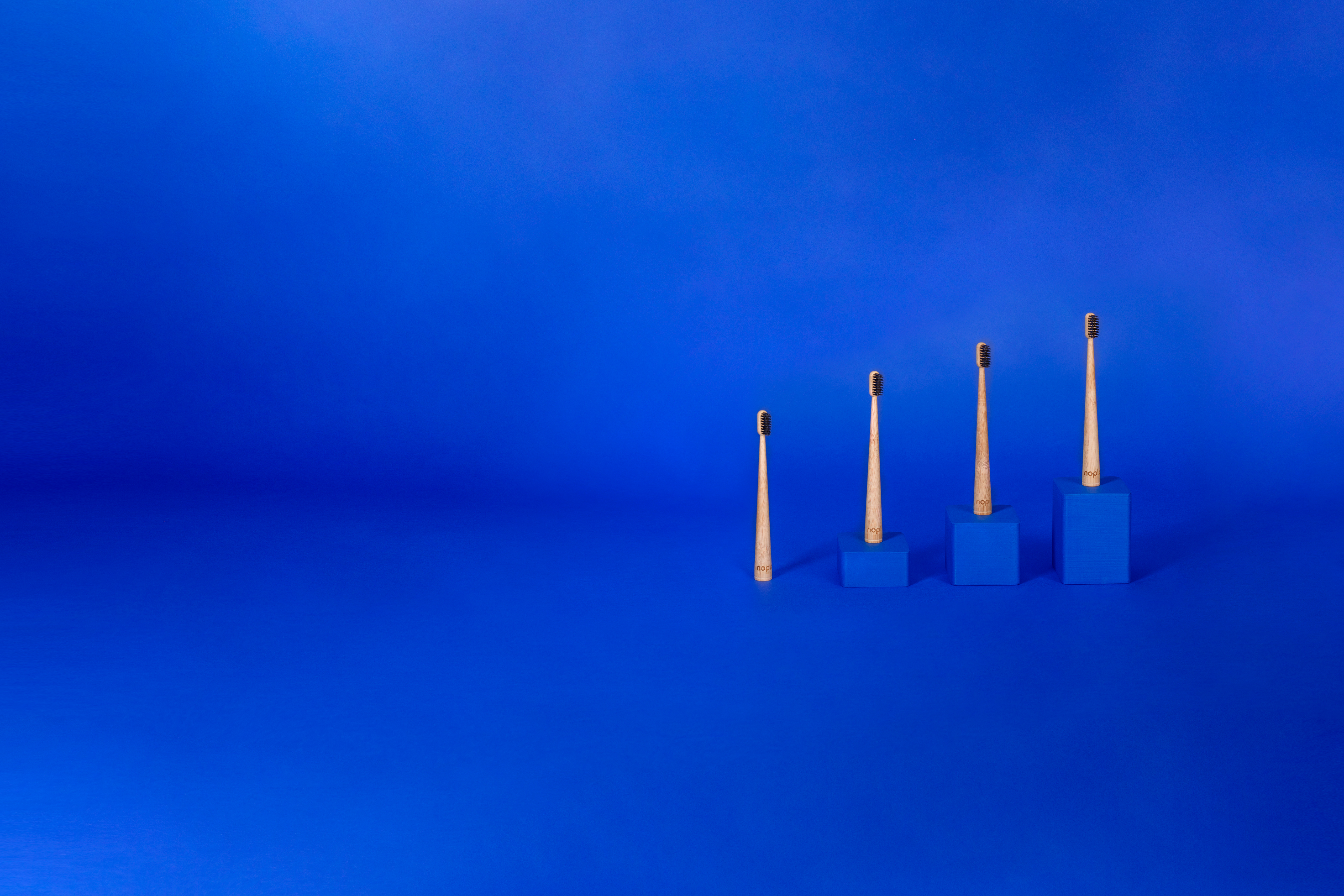 nopla Blue Bamboo Toothbrush Pack