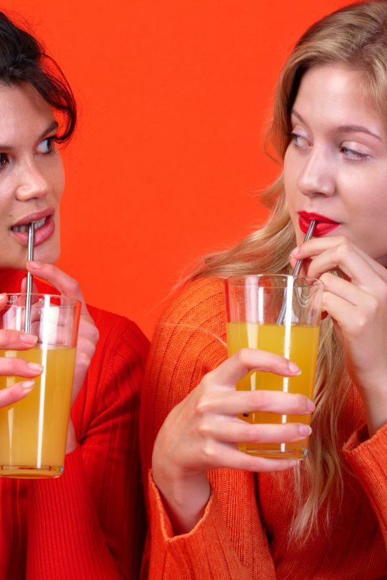 nopla Orange Straws with models 2