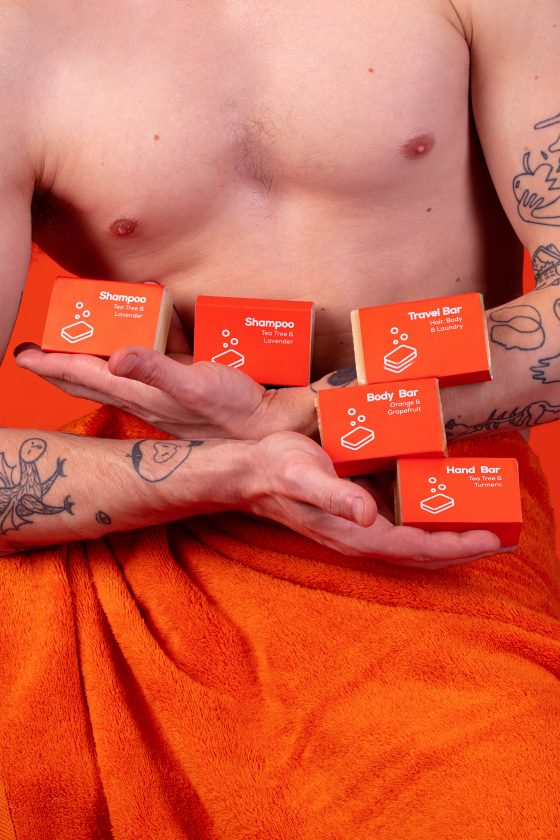 nopla Orange Soap Bars with Axel