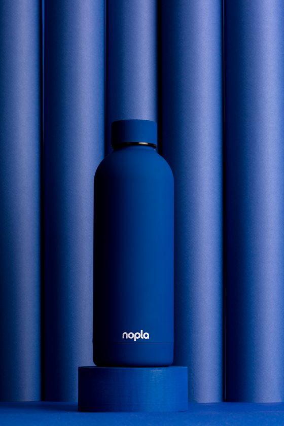 nopla Blue Inox Bottle