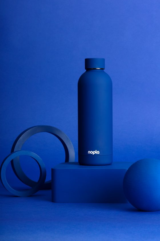 nopla Blue Inox Bottle
