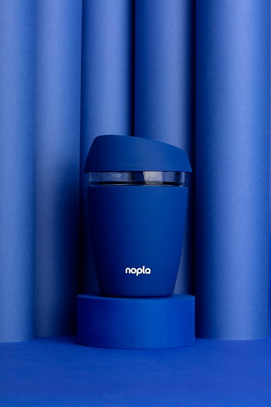 nopla Blue Coffee Cup Glass Tumbler