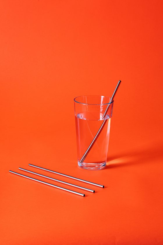 nopla Orange Straws Glass